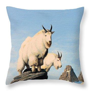 Lamoille Goats Throw Pillow
