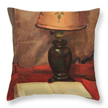 Lamp And Book 1929 Throw Pillow