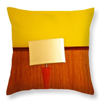 Lamp And Desk Throw Pillow by Jess Kraft