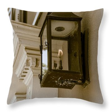Throw Pillow featuring the photograph Lamp Unto My Feet by Sennie Pierson