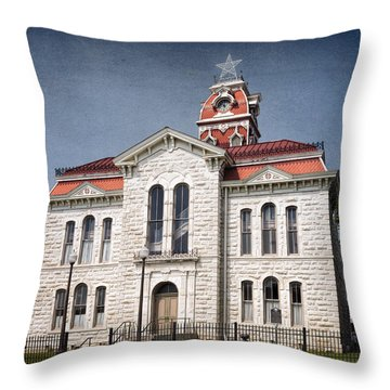Lampasas County Courthouse Throw Pillow