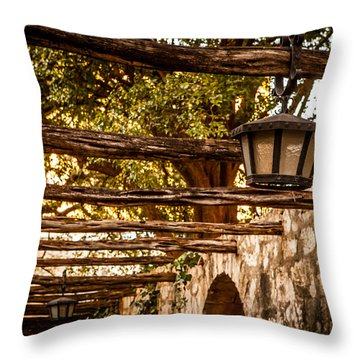 Lamps At The Alamo Throw Pillow by Melinda Ledsome