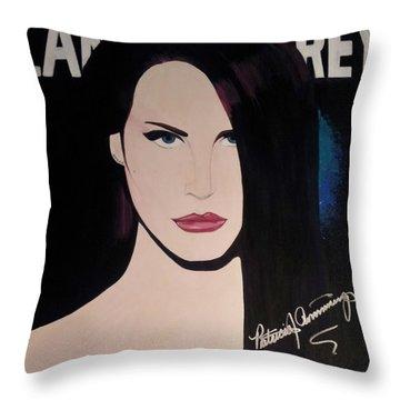 Lana Del Rey Blue Eyes Throw Pillow