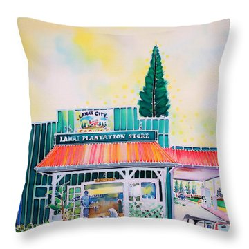 Lanai City Throw Pillow