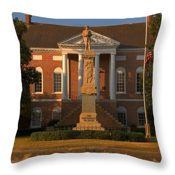 Throw Pillow featuring the photograph Lancaster Courthouse South Carolina by Bob Pardue