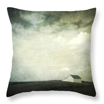 Lancaster Ohio Barn 3 Throw Pillow by Cynthia Lassiter