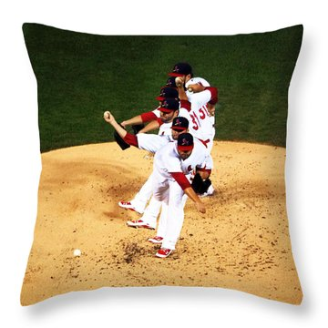 Lance Lynn Pitches Throw Pillow