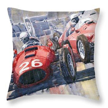 Lancia D50 Alberto Ascari Monaco 1955 Throw Pillow