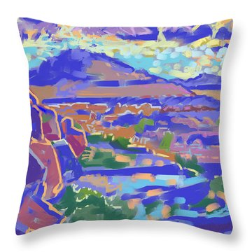 Land And Light Throw Pillow