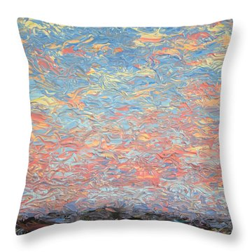 Land And Sky 3 Throw Pillow by James W Johnson