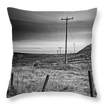 Land Line Throw Pillow