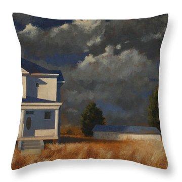 Land Mark Throw Pillow by John Dean