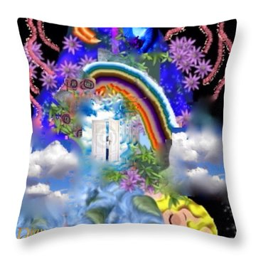 Throw Pillow featuring the digital art Land Of Dreams by Diana Riukas