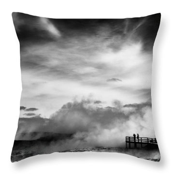 Land Of Fire Throw Pillow by Dave Bowman