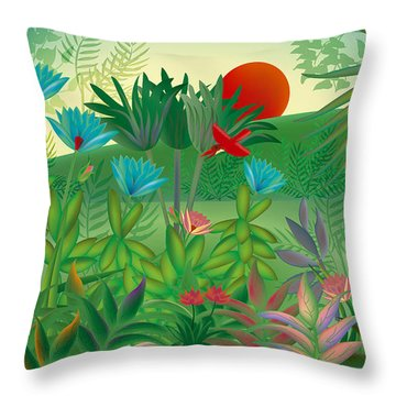 Land Of Flowers - Limited Edition 2 Of 15 Throw Pillow