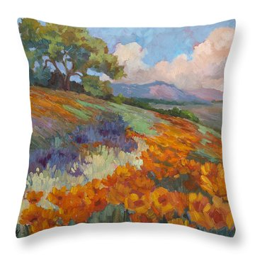 Land Of Sunshine Throw Pillow