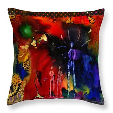 Land Of The Giants Throw Pillow by Angela L Walker