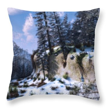 Land Of The Red Fox Throw Pillow by Ken Morris