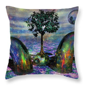 Land Of World 8624028 Throw Pillow by Betsy Knapp