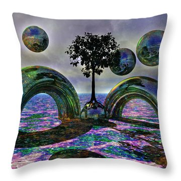 Land Of World 8624030 Throw Pillow by Betsy Knapp