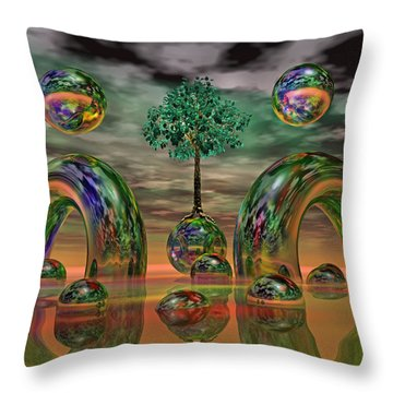 Land Of World 8624036 Throw Pillow by Betsy Knapp