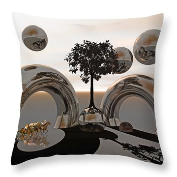 Land Of World 8624038 Racing Throw Pillow by Betsy Knapp