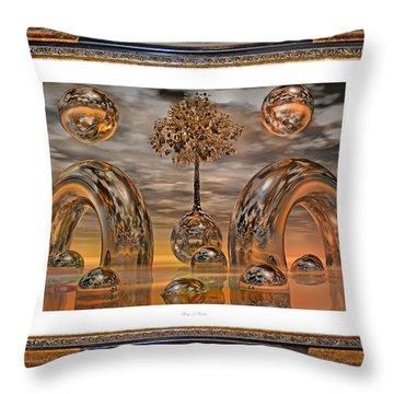 Land Of World 8624042 Framed Throw Pillow by Betsy Knapp