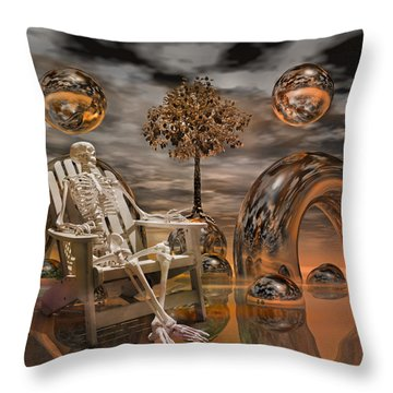 Land Of World 86240440 With Sam Throw Pillow by Betsy Knapp