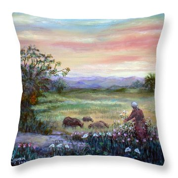 In The Farme  Throw Pillow