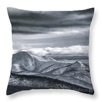 Land Shapes 4 Throw Pillow by Priska Wettstein