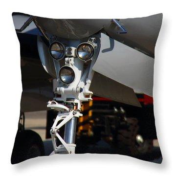 Throw Pillow featuring the photograph Landing Gear  Close Up  by Ramabhadran Thirupattur