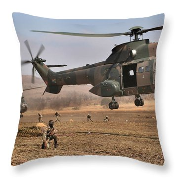 Landing Zone Throw Pillow by Paul Job