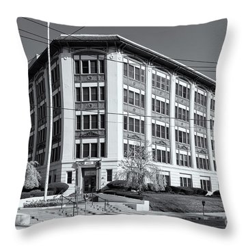 Landmark Life Savers Building II Throw Pillow by Clarence Holmes