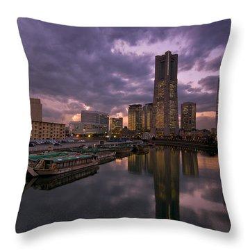 City Sunset Throw Pillows