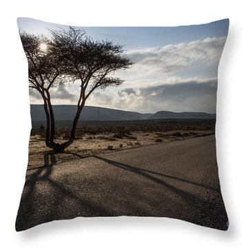 Landmark Tree Throw Pillow by Arik Baltinester