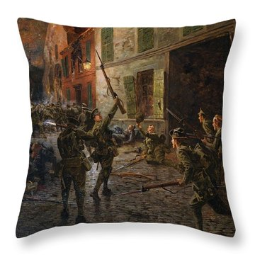 Landrecies, 25th August 1914, 1915 Throw Pillow