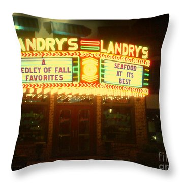 Landry's Seafood In Lomoish Throw Pillow