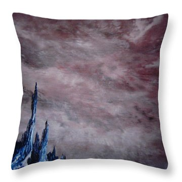 Throw Pillow featuring the painting Lands A Far II by Stuart Engel