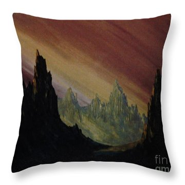 Lands A Far Throw Pillow by Stuart Engel