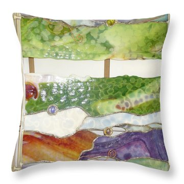 Landscape 2 Throw Pillow by Karin Thue