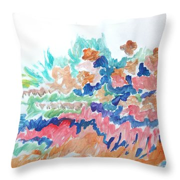 Landscape Composition Throw Pillow by Esther Newman-Cohen