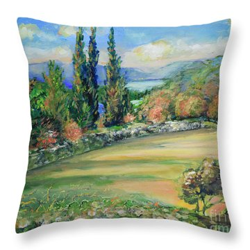 Landscape From Kavran Throw Pillow