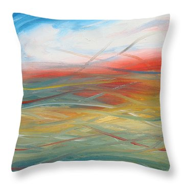 Landscape I Throw Pillow by Sheridan Furrer
