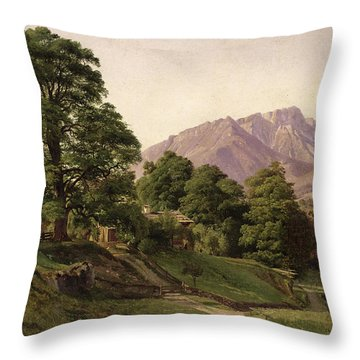 Landscape In Upper Bavaria Throw Pillow