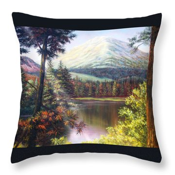 Landscape-lake And Trees Throw Pillow