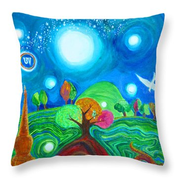 Landscape Of Ancient Dreams Throw Pillow