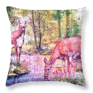 Landscape Of Puzzle Throw Pillow