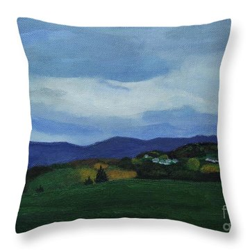 Landscape Of Sola Norway Throw Pillow