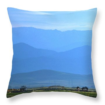 landscape of North CA Throw Pillow by Rima Biswas