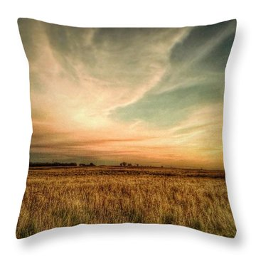 #landscape #skyscape #rural #fields Throw Pillow